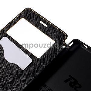 Peněženkové pouzdro s okýnkem pro Sony Xperia M4 Aqua - žluté - 6