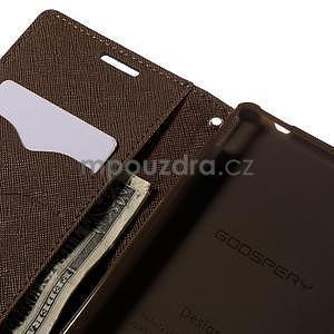 Ochranné pouzdro na Sony Xperia M4 Aqua - černé/hnědé - 6