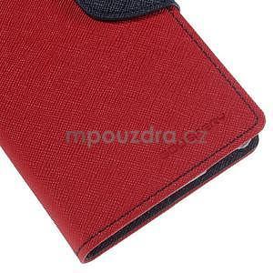 Ochranné pouzdro na Sony Xperia M4 Aqua - červené/tmavěmodré - 6