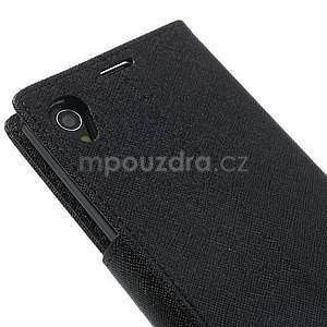 Fancy peněženkové pouzdro na mobil Sony Xperia Z1 - černé - 6