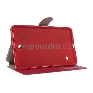 PU kožené peněženkové pouzdro pro tablet Samsung Galaxy Tab 4 8.0 - magenta - 6