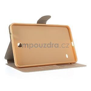 PU kožené peněženkové pouzdro pro tablet Samsung Galaxy Tab 4 8.0 - champagne - 6