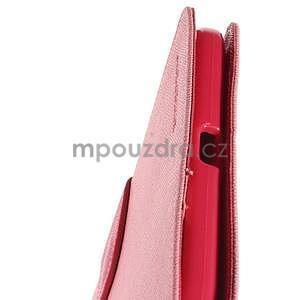 Růžové peněženkové pouzdro Goospery na tablet Samsung Galaxy Tab 4 8.0 - 6