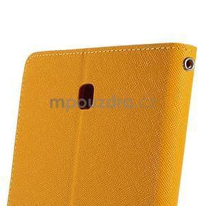 Žluté peněženkové pouzdro Goospery na tablet Samsung Galaxy Tab 4 8.0 - 6