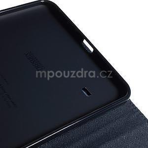 Fialové peněženkové pouzdro Goospery na tablet Samsung Galaxy Tab 4 8.0 - 6