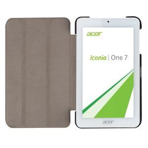Trifold polohovatelné pouzdro na tablet Acer Iconia One 7 B1-770 - hnědé - 6