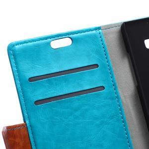 Lines PU kožené pouzdro na Acer Liquid Z530 - modré - 6