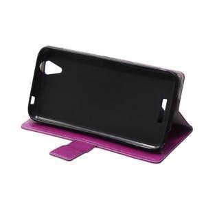 Leat PU kožené pouzdro na mobil Acer Liquid Z630 - fialové - 6