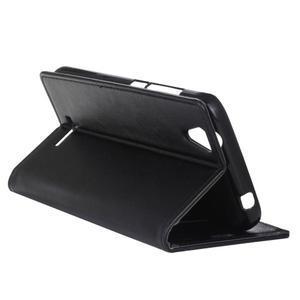 Leat PU kožené pouzdro na mobil Acer Liquid Z630 - černé - 6