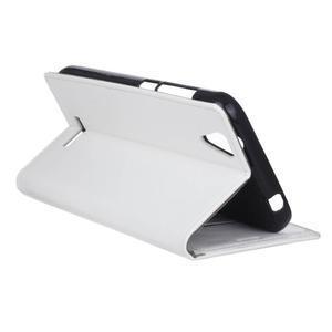 Leat PU kožené pouzdro na mobil Acer Liquid Z630 - bílé - 6