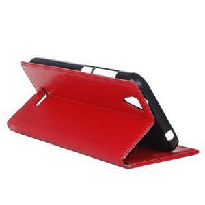 Leat PU kožené pouzdro na mobil Acer Liquid Z630 - červené - 6