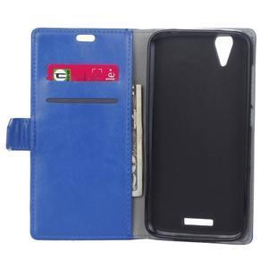 Leat PU kožené pouzdro na mobil Acer Liquid Z630 - modré - 6