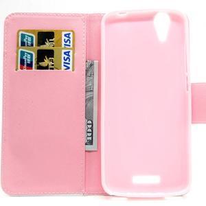 Peněženkové pouzdro na mobil Acer Liquid Z630 - barevné květy - 6