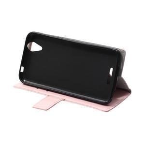 Leat PU kožené pouzdro na mobil Acer Liquid Z630 - růžové - 6