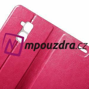 Horse PU kožené pouzdro na Asus Zenfone 3 Max ZC520TL - rose - 6
