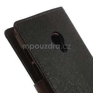 Černé/hnědé peněženkové pouzdro na Asus Zenfone 5 - 6
