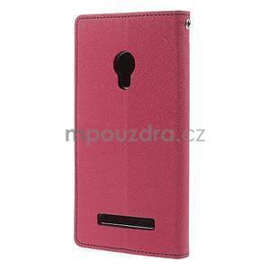 Rose/tmavě modré peněženkové pouzdro na Asus Zenfone 5 - 6