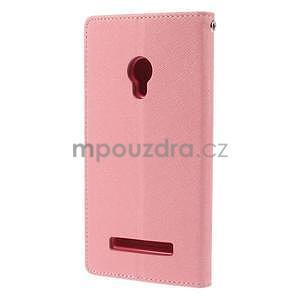 Růžové/rose peněženkové pouzdro na Asus Zenfone 5 - 6