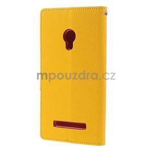 Žluté/rose peněženkové pouzdro na Asus Zenfone 5 - 6