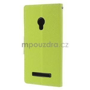 Zelené/tmavě modré peněženkové pouzdro na Asus Zenfone 5 - 6
