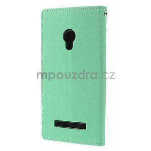 Azurové/tmavě modré peněženkové pouzdro na Asus Zenfone 5 - 6