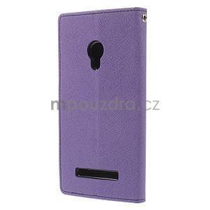 Fialové/tmavě modré peněženkové pouzdro na Asus Zenfone 5 - 6