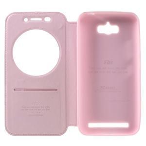 Luxusní pouzdro s okýnkem na mobil Asus Zenfone Max - růžové - 6