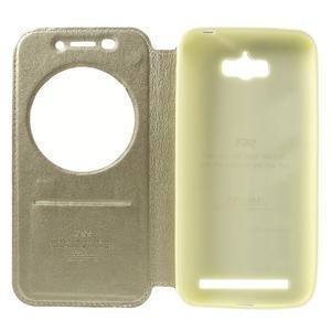 Luxusní pouzdro s okýnkem na mobil Asus Zenfone Max - zlaté - 6