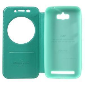Luxusní pouzdro s okýnkem na mobil Asus Zenfone Max - cyan - 6