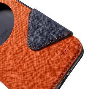 Diary peněženkové pouzdro s okýnkem na Asus Zenfone Max - oranžové - 6