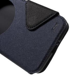 Diary peněženkové pouzdro s okýnkem na Asus Zenfone Max - tmavěmodré - 6