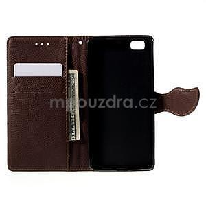 Zapínací PU kožené pouzdro na Huawei P8 Lite - zelené - 6