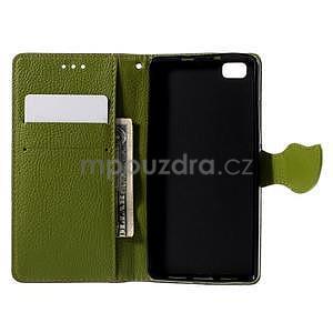 Zapínací PU kožené pouzdro na Huawei P8 Lite - hnědé - 6