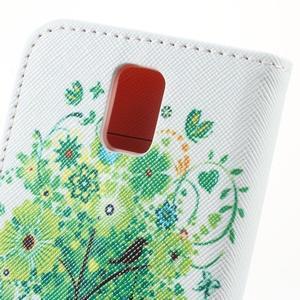 Peněženkové pouzdro na mobil Huawei Y3 a Y360 - zelený strom - 6