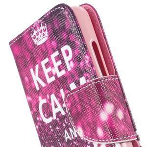 Peněženkové pouzdro na mobil Huawei Y3 a Y360 - Keep Calm - 6