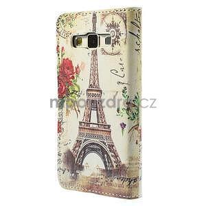 Stylové klopové pouzdro na Samsung Galaxy A3 - Eiffel - 6