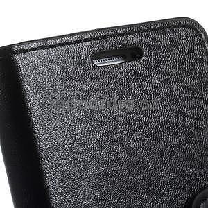 Černé PU kožené peněženkové pouzdro na Samsung Galaxy A3 - 6