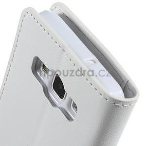 Bílé PU kožené peněženkové pouzdro na Samsung Galaxy A3 - 6