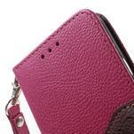 Rose/hnědé PU kožené pouzdro na Samsung Galaxy A3 - 6/7