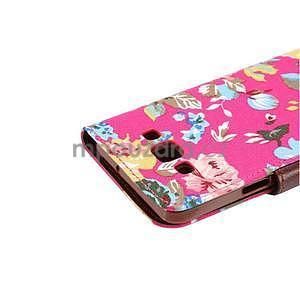 Květinové peněženkové pouzdro na Samsung Galaxy A5 - rose - 6