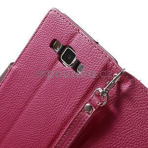 Rose/hnědé PU kožené pouzdro na Samsung Galaxy A5 - 6