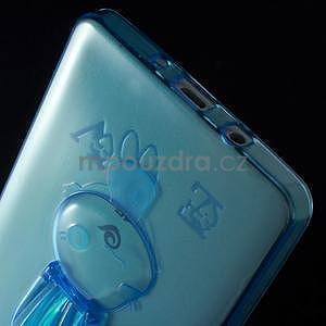 Modrý gelový obal s nastavitelným stojánkem na Samsung Galaxy A5 - 6