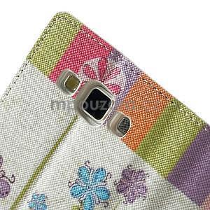 Peněženkové zapínací pouzdro na Samsung Galaxy A5 - barevné květiny - 6