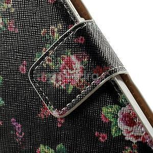 Peněženkové zapínací pouzdro na Samsung Galaxy A5 - růže - 6