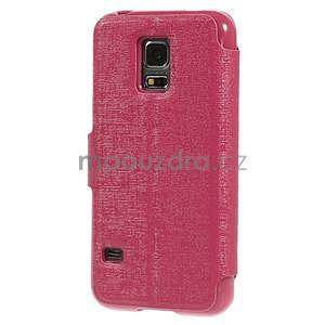 Rose zapínací pouzdro na Samsung Galaxy S5 mini - 6