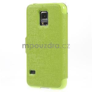 Zelené zapínací pouzdro na Samsung Galaxy S5 mini - 6