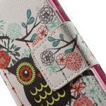 Zapínací peněženkové pouzdro na Samsung Galaxy S5 mini - květinová sova - 6/7