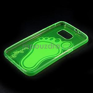 Protiskluzový gelový kryt na Samsung Galaxy S6 - zelený - 6