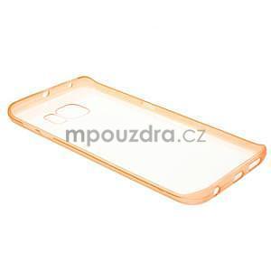 Oranžový hybridní gelový obal na Samsung Galaxy S6 Edge - 6