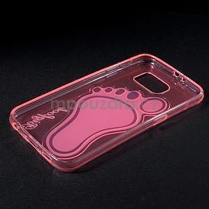 Protiskluzový gelový kryt na Samsung Galaxy S6 - rose - 6